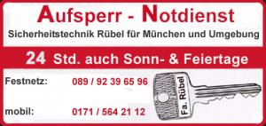 Aufsperrnotdienst in München